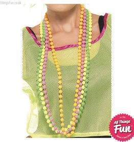 Smiffys Neon Bead Necklace 4 Strands