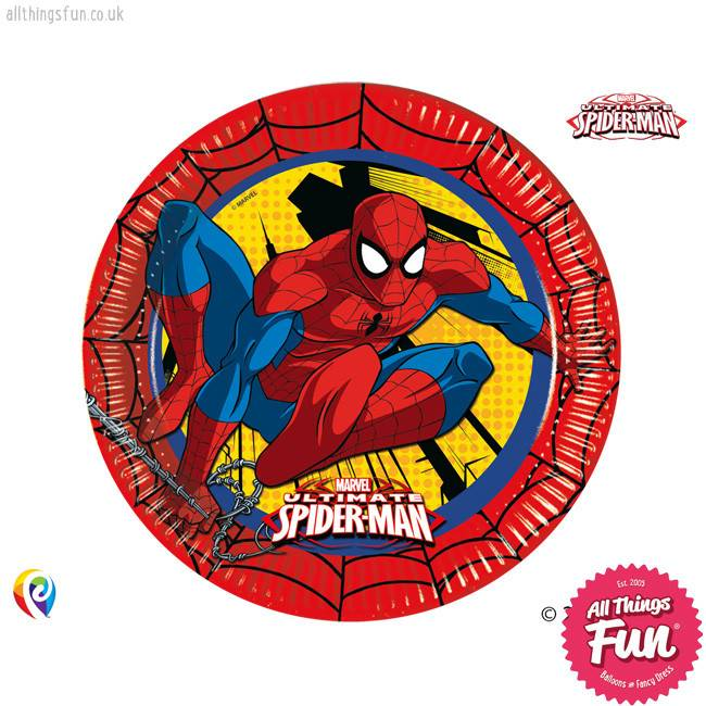 Procos *DISC* Ultimate Spiderman - Party Paper Plates 8Ct