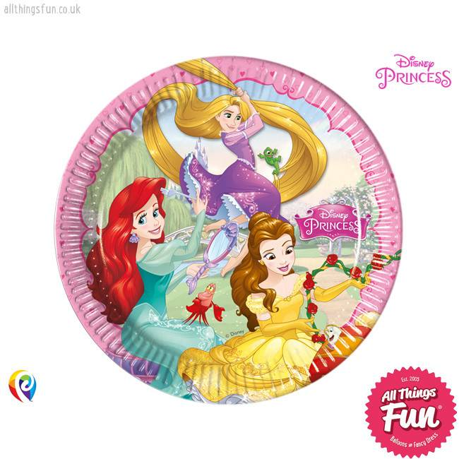 Procos Disney Princess - Party Paper Plates (23cm) 8Ct