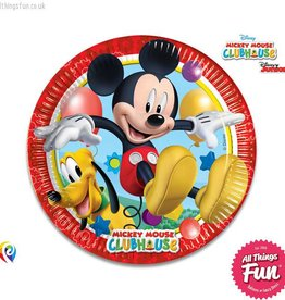 Procos Playful Mickey - Party Paper Plates (23cm) 8Ct