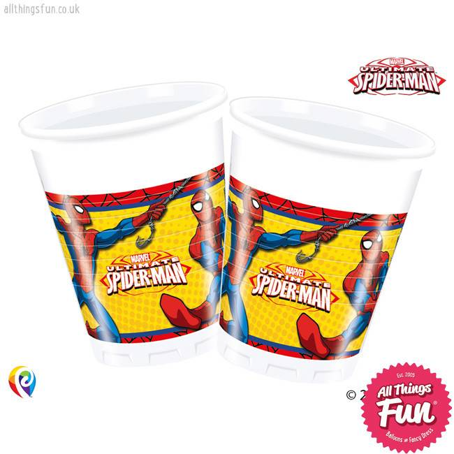Procos *DISC* Ultimate Spiderman - Party Plastic Cups 8Ct