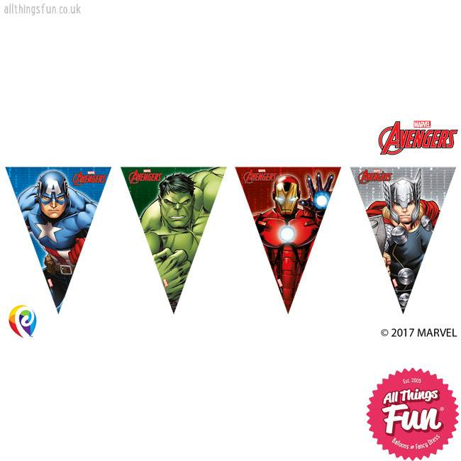 Procos *DISC* Avengers Power - Banner - Triangle Flag (9)