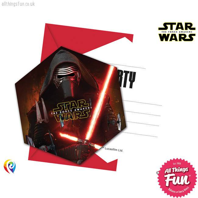Procos *DISC* Star Wars The Force Awakens - Invitations & Envelopes 6Ct