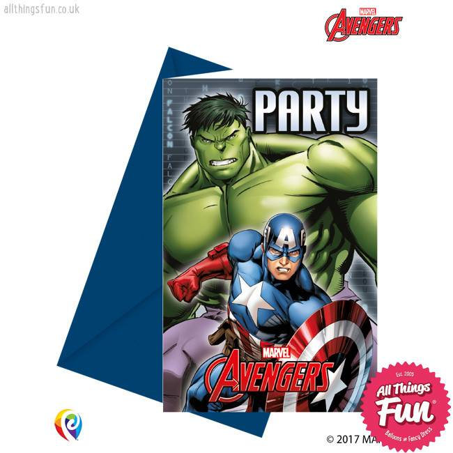 Procos *DISC* Avengers Power - Invitations & Envelopes 6Ct
