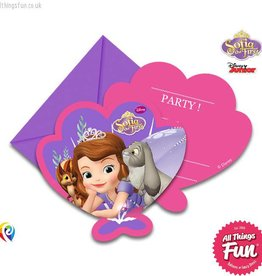 Procos Sofia The First - Invitations & Envelopes 6Ct