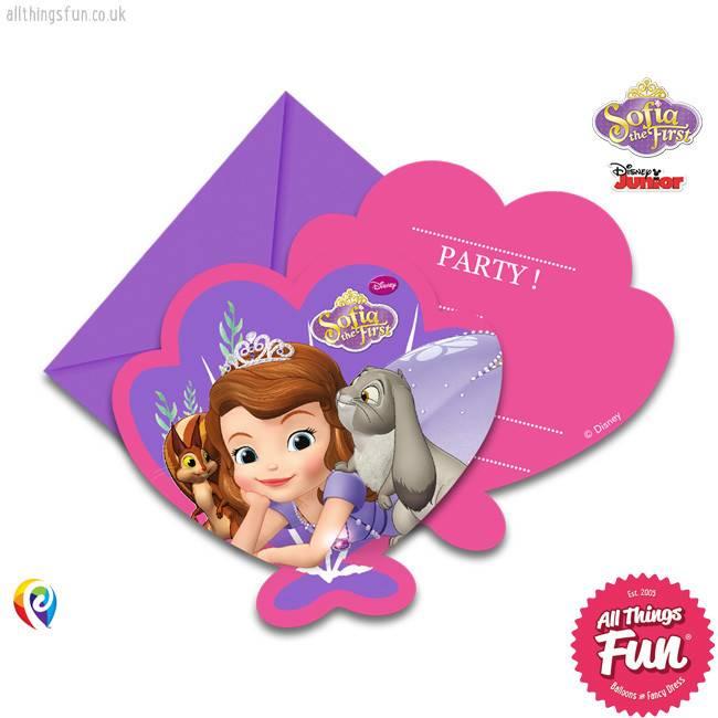 Procos Sofia The First - Invitations & Envelopes 6Ct