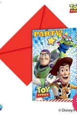 Procos *DISC* Toy Story Star Power - Invitations & Envelopes 6Ct
