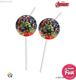 Procos *DISC* Marvel's Avengers - Drinking Straws 6Ct