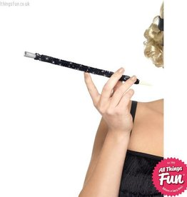 Smiffys Black Sequinned Cigarette Holder
