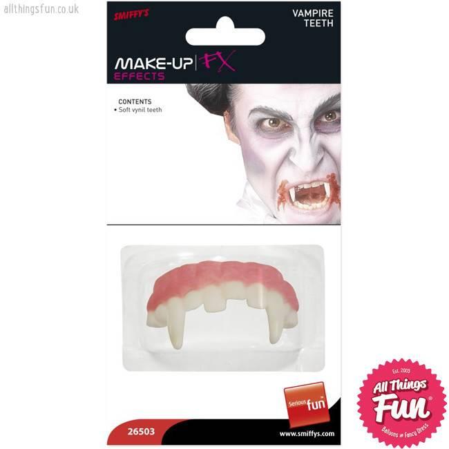 Smiffys Horror Vampire Teeth Soft Vinyl