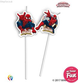 Procos *DISC* Marvel's Spiderman - Drinking Straws 6Ct