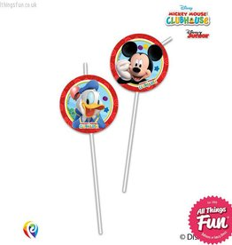 Procos *DISC* Playful Mickey - Drinking Straws 6Ct