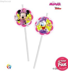 Procos *DISC* Disney Minnie Mouse - Drinking Straws 6Ct
