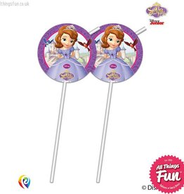 Procos Sofia The First - Drinking Straws 6Ct