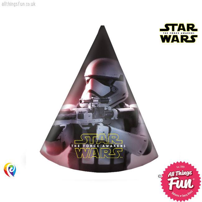 Procos *DISC* Star Wars The Force Awakens - Party Hats 6Ct