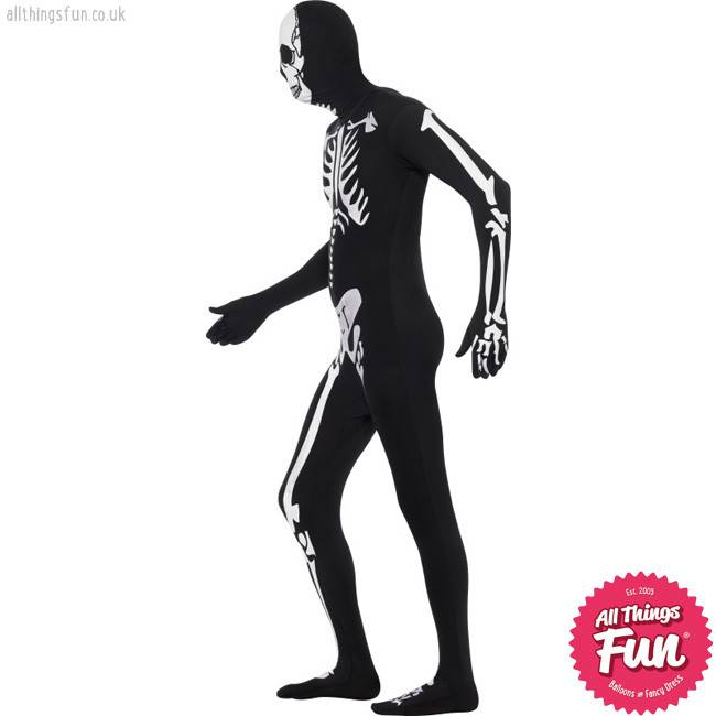 Smiffys Adult Skeleton Second Skin Costume
