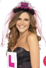 Smiffys Bride To Be Tiara with Veil Black