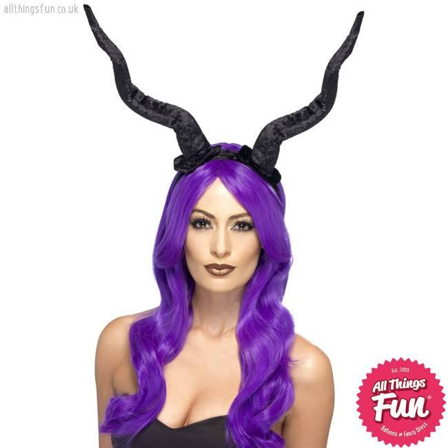 Smiffys Demon Black Horns Headband