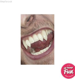 Smiffys Scarecrow Deluxe Werewolf Fangs with Adhesive