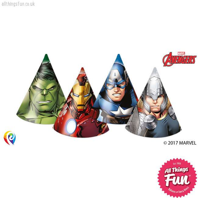 Procos *DISC* Avengers Power - Party Hats 6Ct
