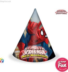 Procos *DISC* Ultimate Spiderman - Party Hats 6Ct