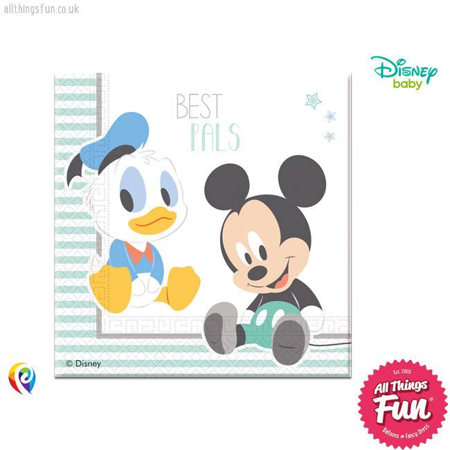 Procos *DISC* Infant Mickey - Party Napkins 20Ct