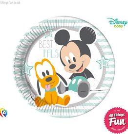 Procos Infant Mickey - Party Paper Plates (23cm) 8Ct