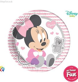 Procos *DISC* Infant Minnie - Party Paper Plates (23cm) 8Ct