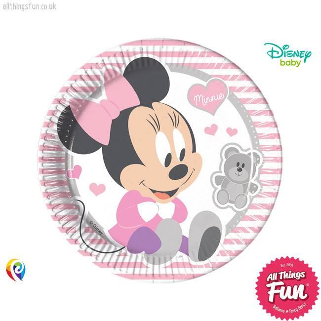 Procos *DISC* Infant Minnie - Party Paper Plates (23cm) 8Ct