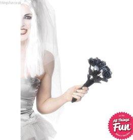 Smiffys Corpse Bride Bouquet, Black Roses