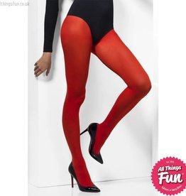 Smiffys Red Opaque Tights