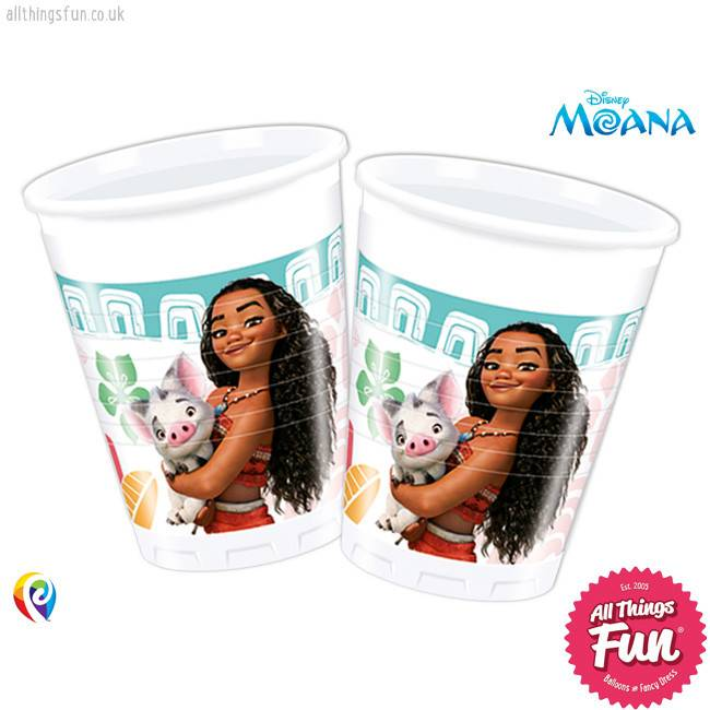 Procos Moana - Party Plastic Cups 8Ct