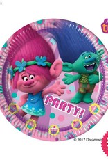 Procos Trolls - Party Paper Plates (23cm) 8Ct