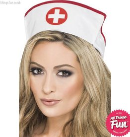 Smiffys White Nurses Hat with Elastic