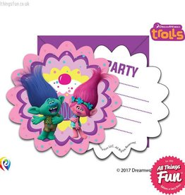 Procos Trolls - Invitations & Envelopes 6Ct
