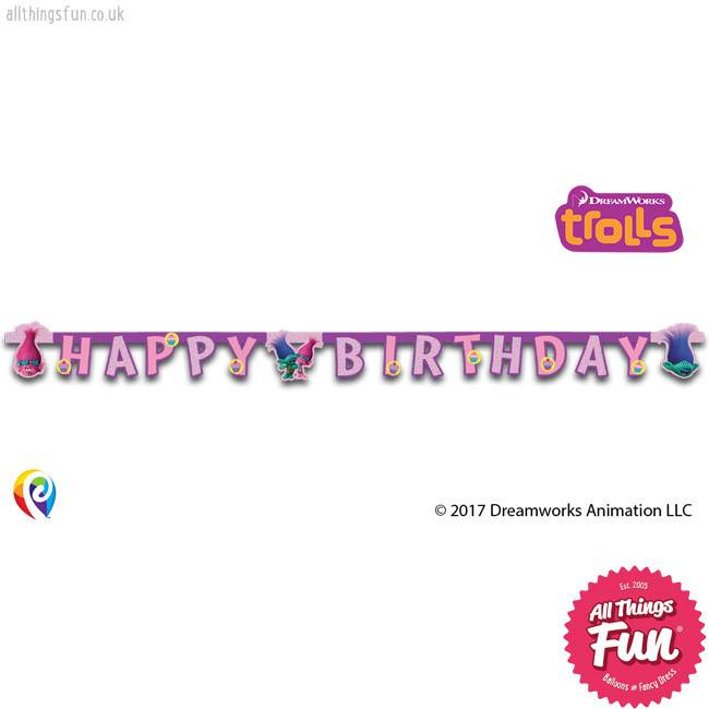 Procos Trolls - Banner 1Ct - Happy Birthday