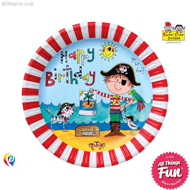 Pioneer Balloon Company Paper Plates - Pirate
