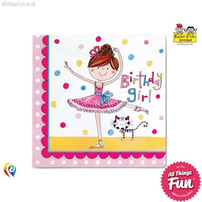 Pioneer Balloon Company Party Napkins - Ballerina
