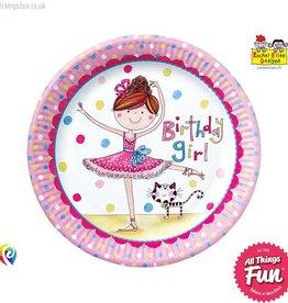 Pioneer Balloon Company Paper Plates - Ballerina