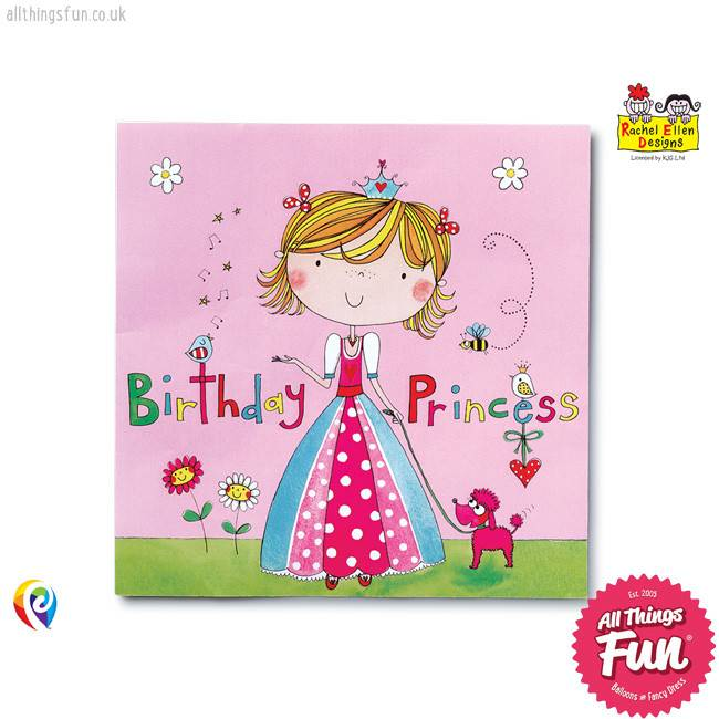 Pioneer Balloon Company Party Napkins - Princess
