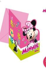 Procos Disney Minnie Mouse - Invitations & Envelopes 6Ct
