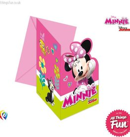 Procos Disney Minnie Mouse - Invitations & Envelopes 6Ct