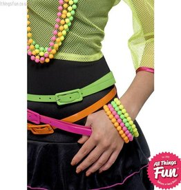 Smiffys Neon Beaded Bracelets Set