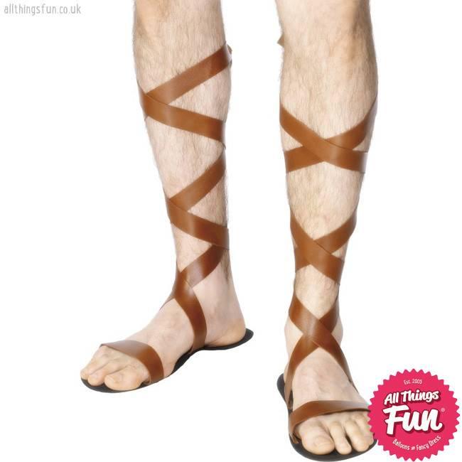 Smiffys Brown Roman Sandals