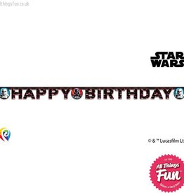 Procos Star Wars - Banner 1Ct - Happy Birthday
