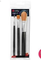 Smiffys Cosmetic Brush Set, Pack of 3