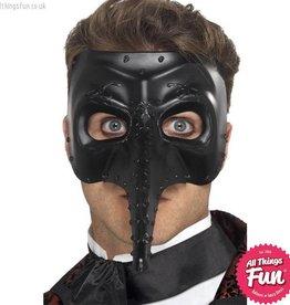 Smiffys Venetian Gothic  Black Capitano Mask