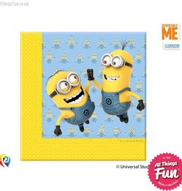 Procos Lovely Minions - Napkins Paper Two-Ply 20Ct