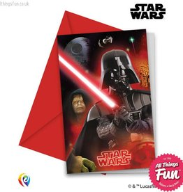 Procos Star Wars - Invitations & Envelopes 6Ct