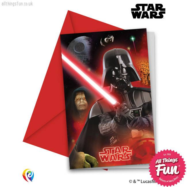 Procos Star Wars - Invitations & Envelopes 6Ct